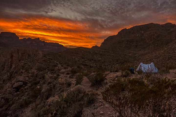 P1100575 S del C Tent sunset