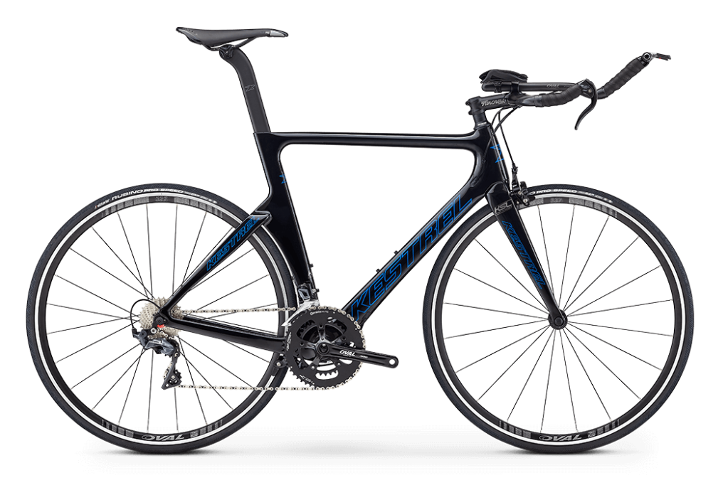 This image has an empty alt attribute; its file name is 2019_kestrel_talon_x_tri_shimano_105_black.png